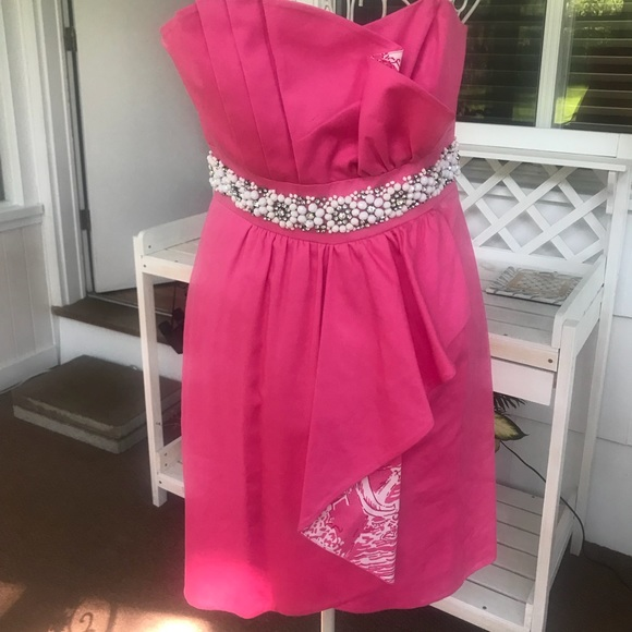 Lilly Pulitzer Pink Crystal Cocktail Dress